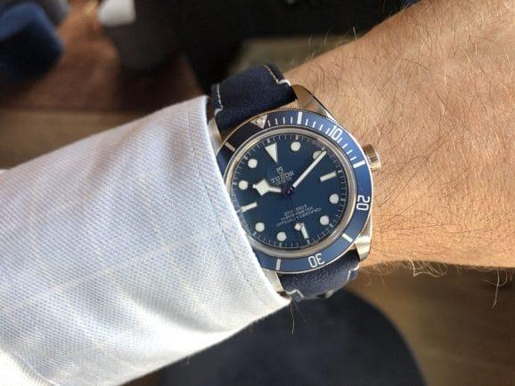 Tudor: Wristshot der Black Bay Fifty-Eight Navy Blue