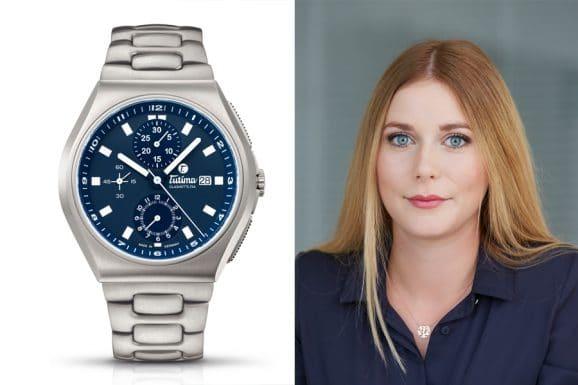 Nadja Ehrlich, verantwortliche Online-Redakteurin Watchtime.net, empfiehlt die Tutima M2 Coastline Chronograph