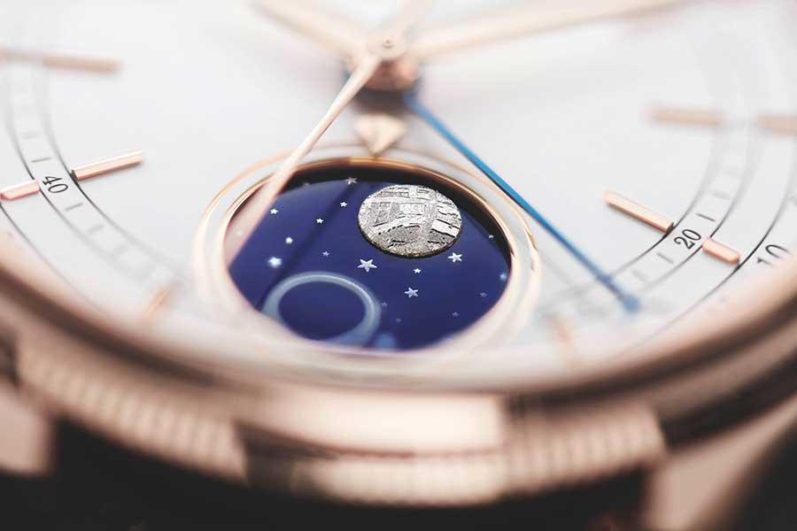 Das von Rolex patentierte Mondphasenmodul