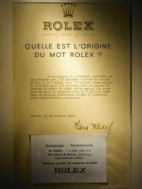 Das original Rolex Zertifikat, 1908