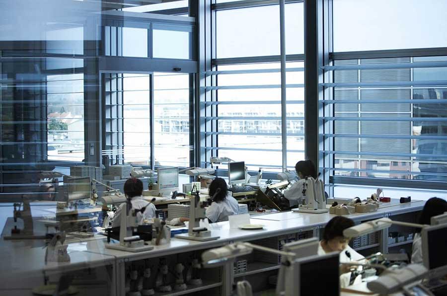 Rolex Werkstatt in Plan-les-Ouates, in Genf
