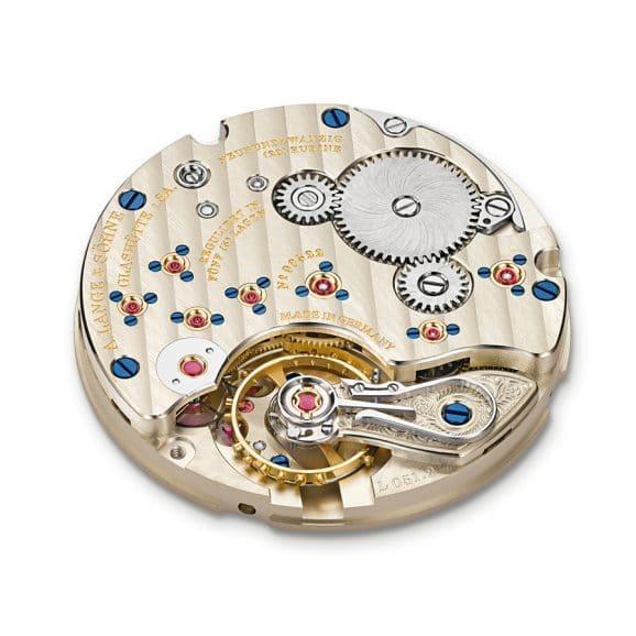 A Lange Söhne dekoriertes Uhrwerk