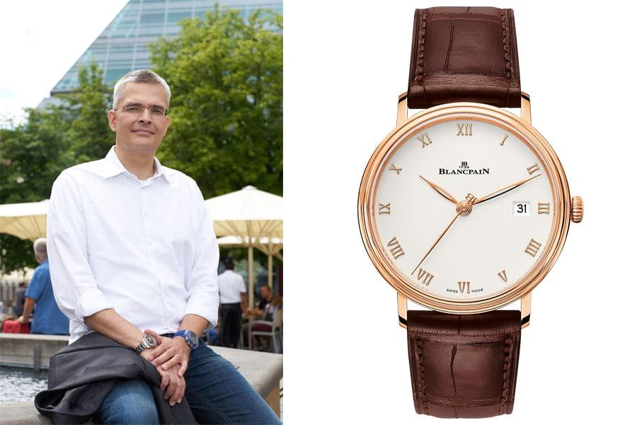 Rüdiger Bucher, Chefredakteur Chronos, gefällt die Blancpain Villeret Ultraplate
