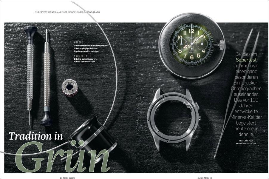 Produkt: Supertest Montblanc 1858 Monopusher Chronograph