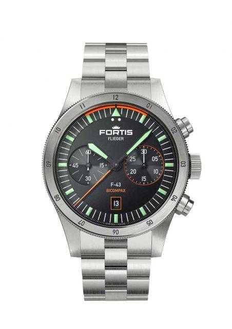 Fortis Flieger F-43 Bicompax 843.10.11 M