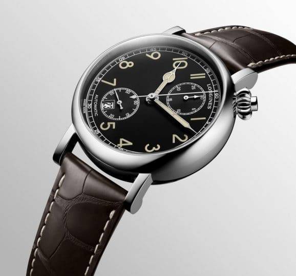 Longines: The Longines Avigation Watch A-7 1935 mit schwarzem Zifferblatt