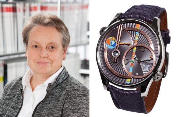 Martina Richter, stellvertretende Chefredakteurin UHREN-MAGAZIN, wählt die Levels von Alexander Shorokhoff