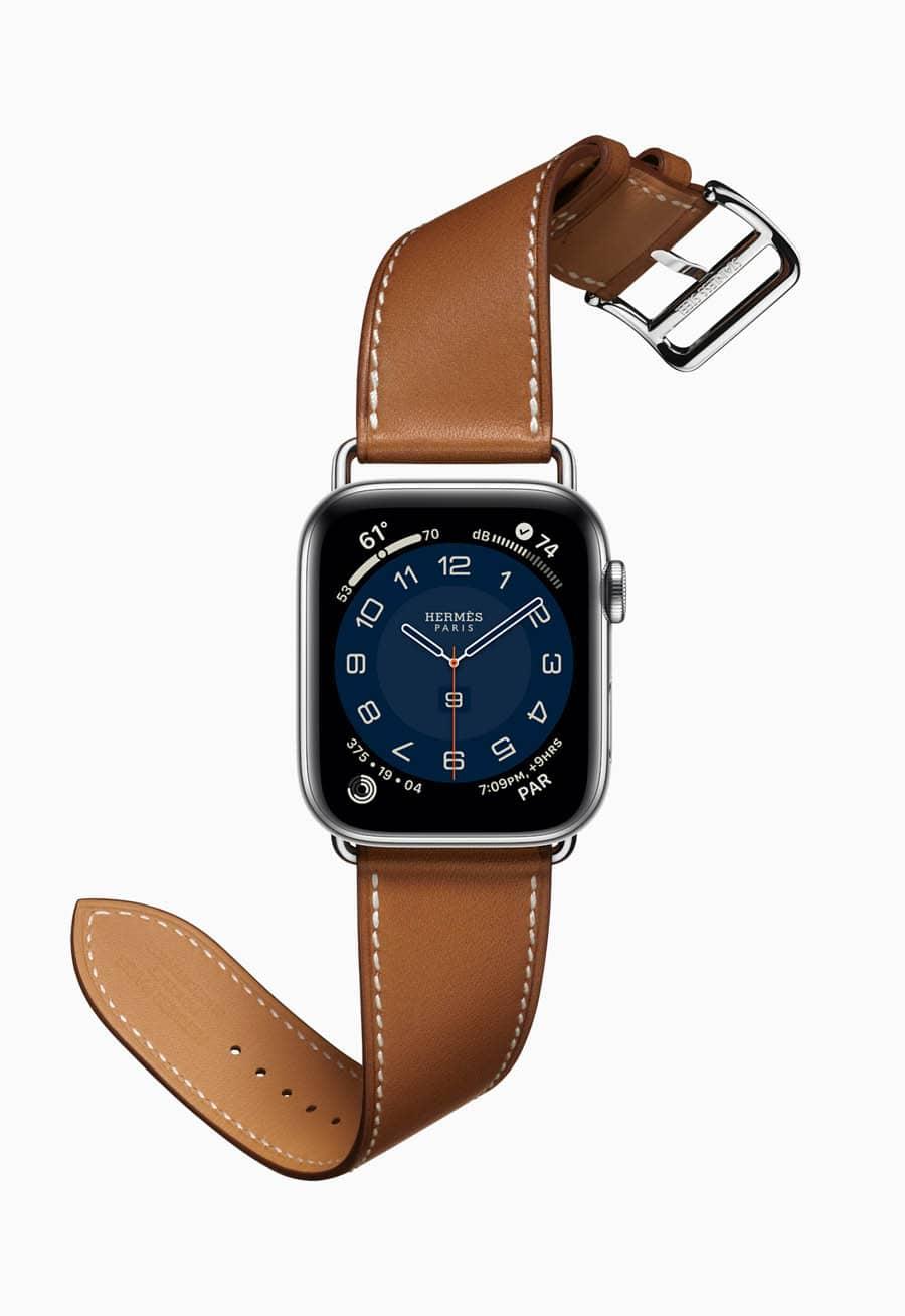 Die Apple Watch Series 6 Hermès in Edelstahl, 44 mm, kostet 1344 Euro.