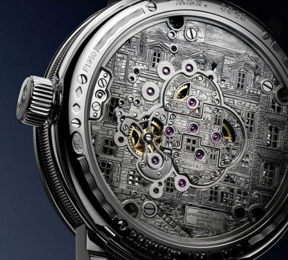 Rückseite der Breguet Classique Doppeltourbillon 5345 Quai de l'Horloge