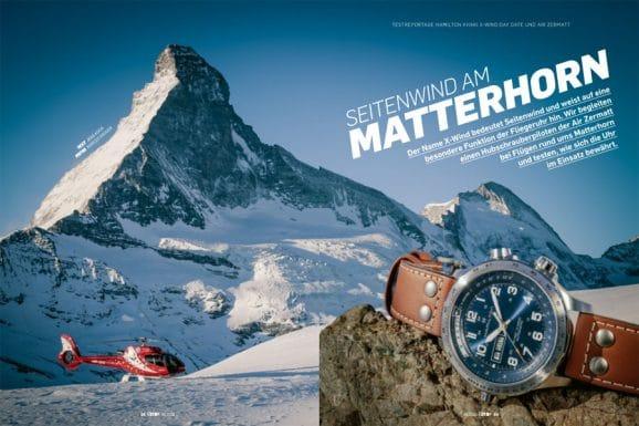 Air Zermatt und Hamilton Khaki X-Wind: Flugeinsatz rund ums Matterhorn