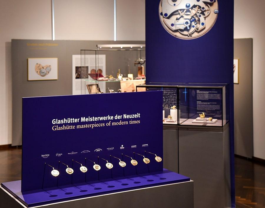 Glashütte-deutsches-Uhrenmuseum-Sonderaustellung-Raum