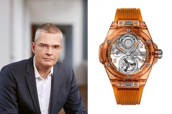 Tipp für eine bunte Uhr von Chronos-Chefredakteur Rüdiger Bucher: Hublot Big Bang Tourbillon Automatic Orange Sapphire