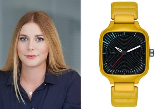 Tipp für eine bunte Uhr von Nadja Ehrlich, Verantwortliche Online-Redakteurin Watchtime.net: Rado True Square x Tej Chauhan