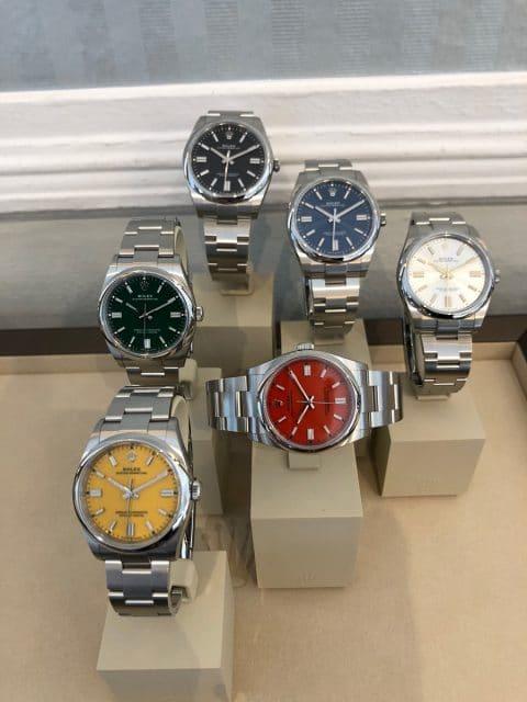 Rolex Oyster Perpetual 41 verschiedene Farben