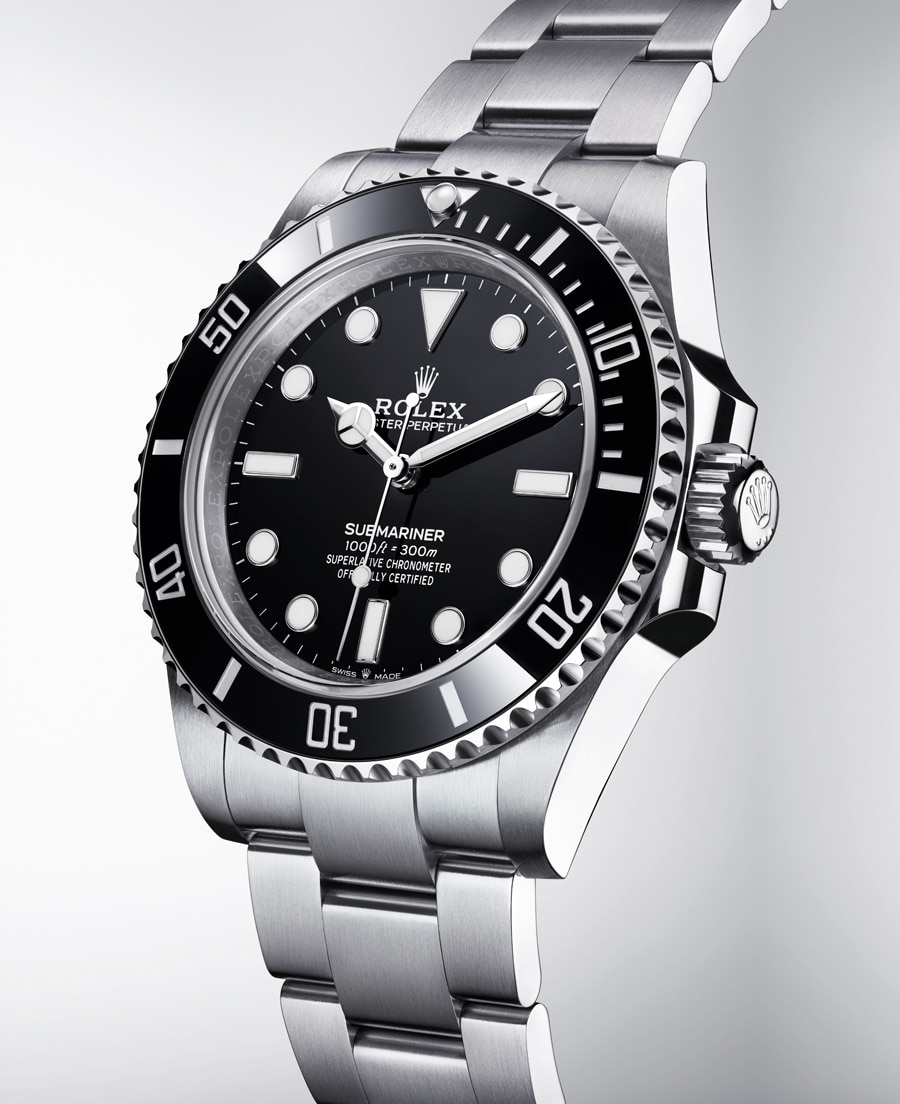 Rolex Oyster Perpetual Submariner ohne Datum Front rechts