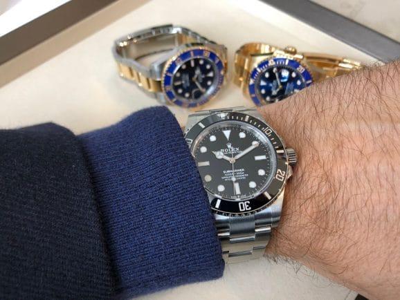 Rolex Submariner 41 ohne Datum Wristshot