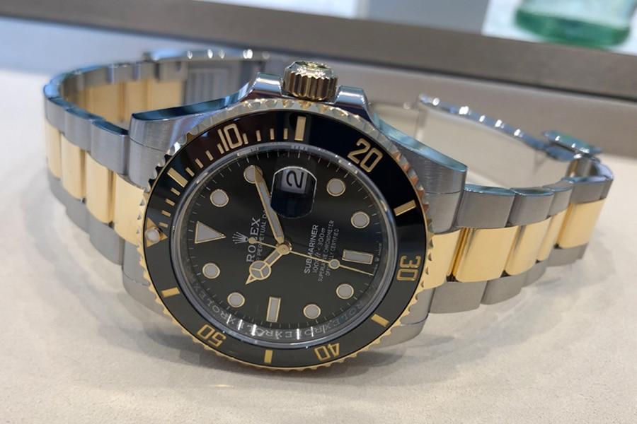 Rolex Submariner 41 schwarz gold Zifferblatt