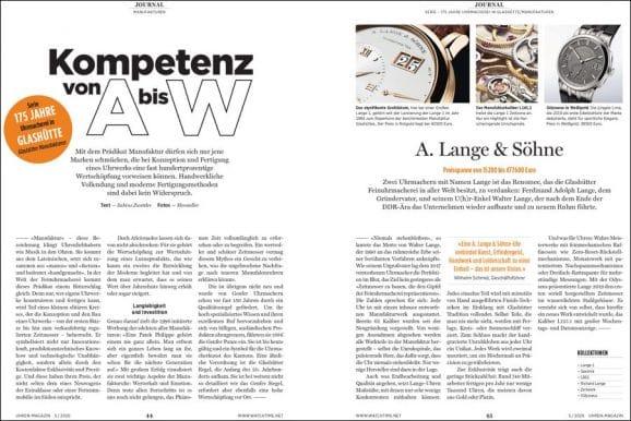 UHREN-MAGAZIN Heft 5/2020: Manufakturen in Glashütte