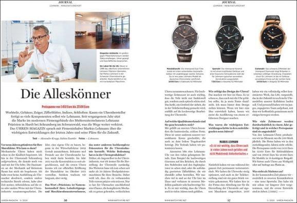 UHREN-MAGAZIN Heft 5/2020: Lehmann Manufaktur