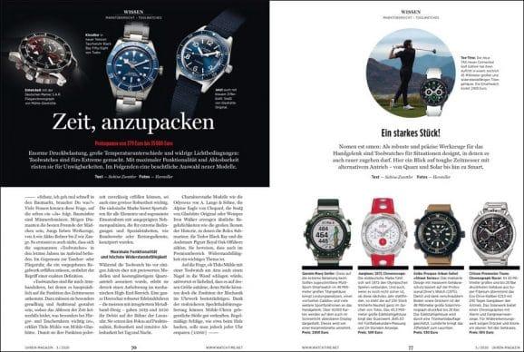 UHREN-MAGAZIN Heft 5/2020: Marktübersicht Toolwatches
