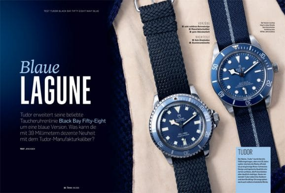 Test Tudor Black Bay Fifty-Eight Navy Blue