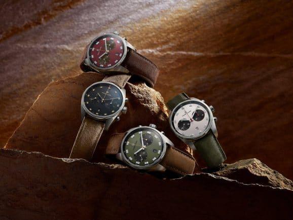 Der Favre-Leuba Sky Chief Chronograph ist in vier herbstlichen Farbvarianten erhältlich
