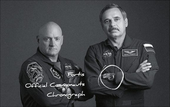 Fortis: Mikhail Kornienko mit dem Official Cosmonauts Chronograph