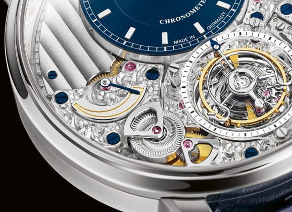 Glashütte: Fliegendes Tourbillon