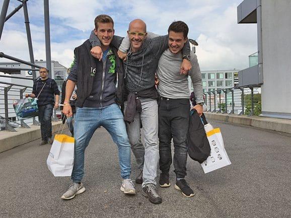 Jörg Schauer mit seinen Söhnen Benny und Moritz