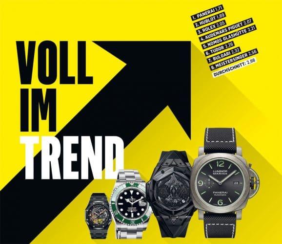 Angesagt: Deutsche Uhrenkäufer halten Panerai für die trendigste Marke