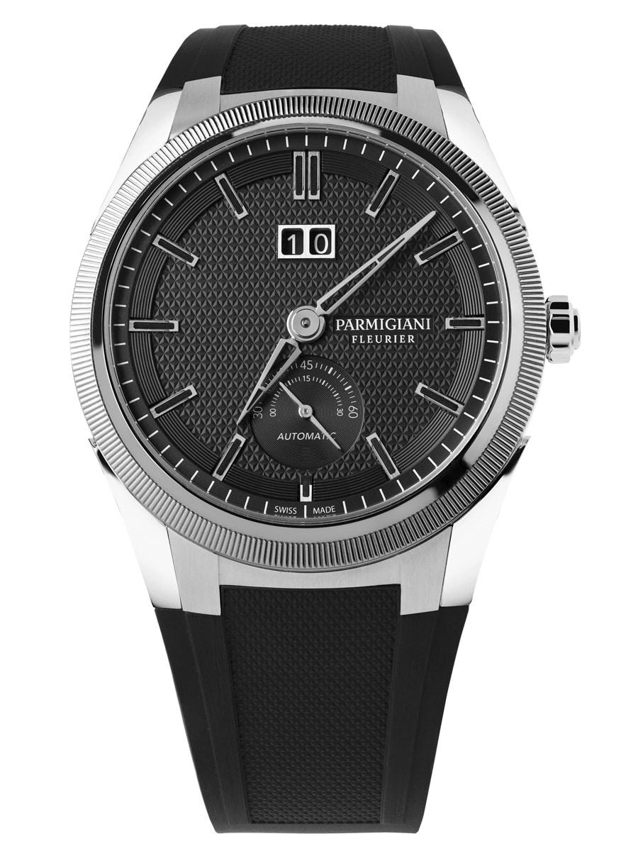 Parmigiani: Tonda GT Parmigiani: Tonda GT mit schwarzem Zifferblatt und Edelstahl-Gehäuse