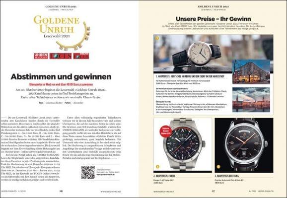 UHREN-MAGAZIN-Ausgabe 6/2020 mit der großen Leserwahl Goldene Unruh 2021