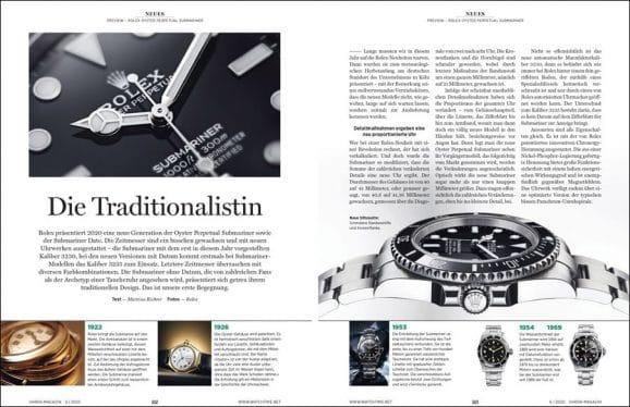 UHREN-MAGAZIN-Ausgabe 6/2020: Vorstellung Rolex Submariner