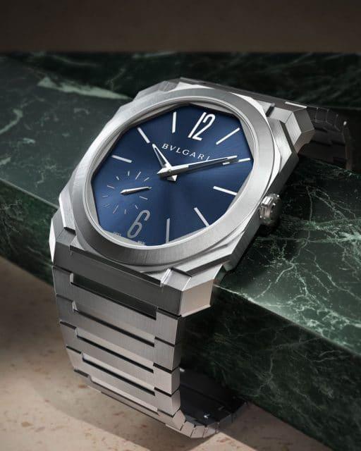 Bulgari: Octo Finissimo Automatic Satin-Polished Steel mit blauem Zifferblatt