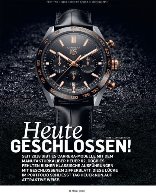 Brandneues Modell im Test: TAG Heuer Carrera Sport Chronograph