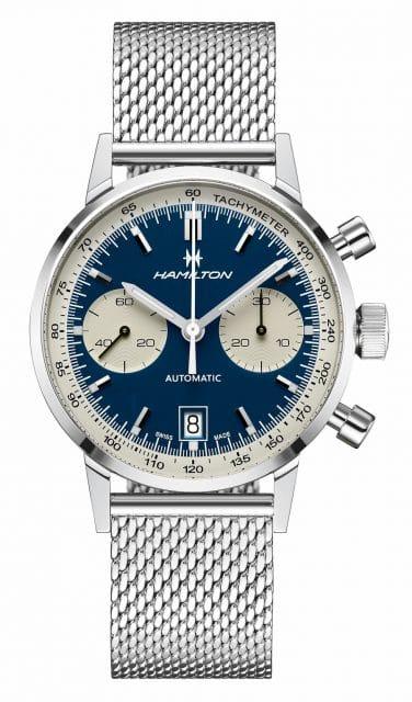 Hamilton: Intra-Matic Automatic Chronograph 40mm mit blauem Zifferblatt