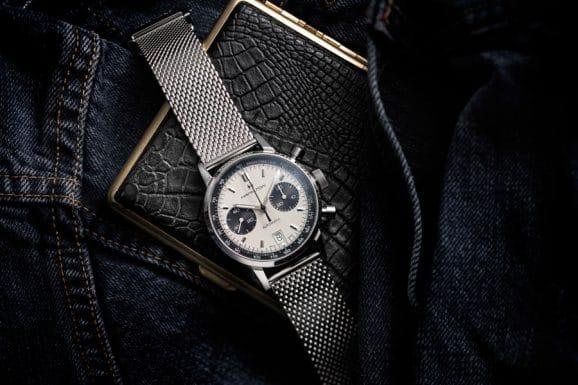 Hamilton: Intra-Matic Automatic Chronograph 40mm mit cremefarbenem Ziffernblatt