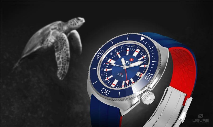 Ligure Scuba Diver Watches: Tartaruga