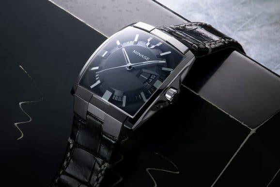 Minase: Horizon mit schwarzem Lederband