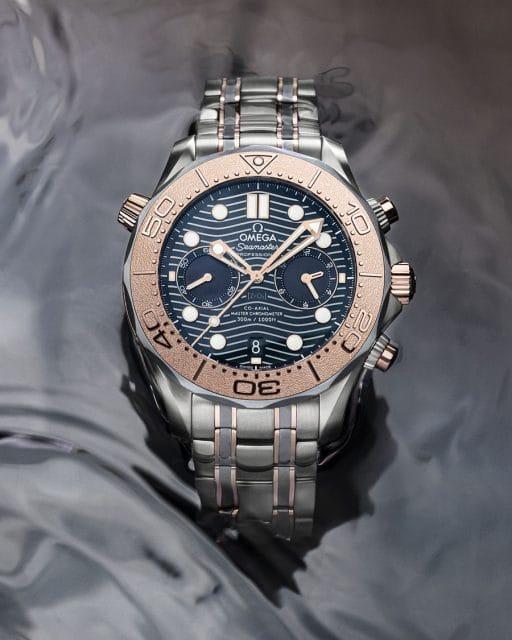 Omega: Seamaster Diver 300M Chronograph in Gold, Titan und Tantal