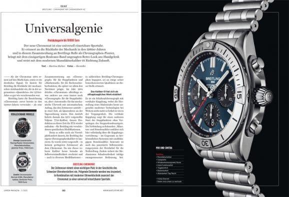 UHREN-MAGAZIN Heft 1.2021: Test Breitling Chronomat