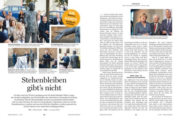 UHREN-MAGAZIN Heft 1.2021: Walter Lange