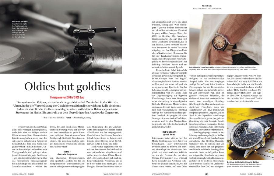 UHREN-MAGAZIN Heft 1.2021: Große Marktübersicht Retrouhren
