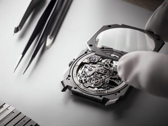 Zusammenbau des Bulgari Octo Finissimo Tourbillon Chronograph Skeleton