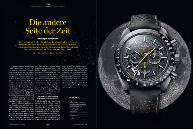 Produkt: Omega Speedmaster Dark Side of the Moon Apollo 8 im Test