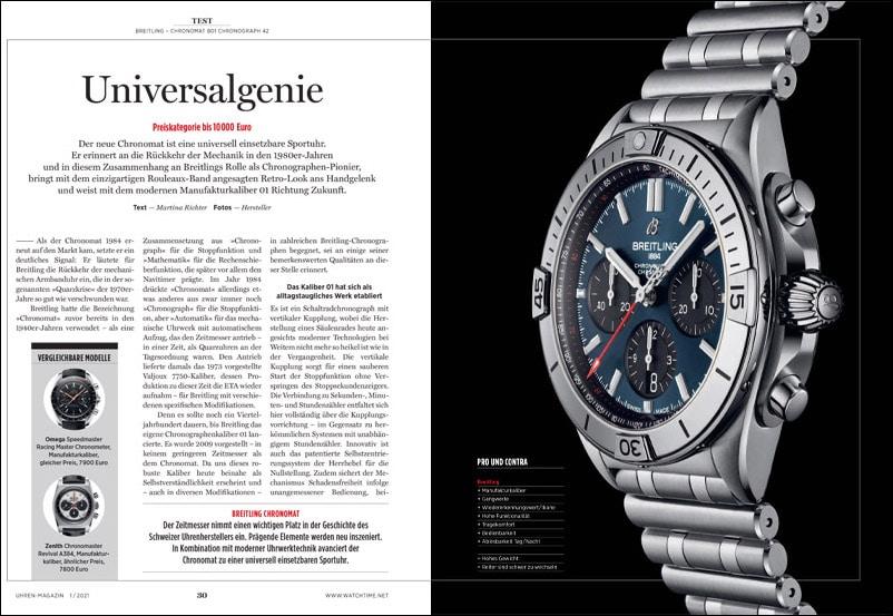Produkt: Breitling Chronomat B01 Chronograph 42 im Test