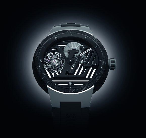 Louis Vuitton: Tambour Curve Tourbillon Volant Poincon de Geneve