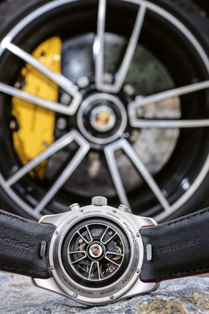 Porsche Design: Chronograph Custom-Built Rotor mit Porsche 911 Turbo S Felge