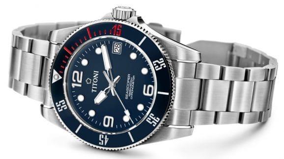 Titoni: Seascoper 600 mit blauem Zifferblatt