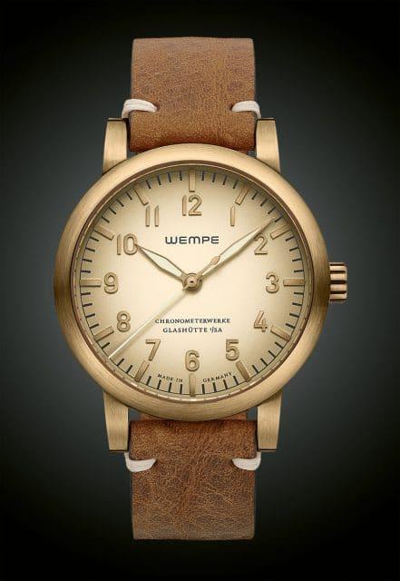 Wempe Glashütte I/SA: Chronometerwerke Automatik Fliegeruhr in Bronze - limitierte Sonderedition